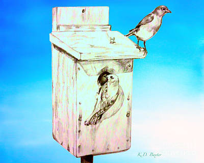 Bluebird Drawing - On The Lookout by Kimberlee Baxter
