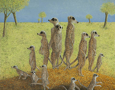 Meerkat Wall Art - Painting - On The Lookout by Pat Scott