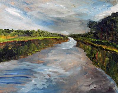 Mashpee Painting - On The Mashpee River by Michael Helfen