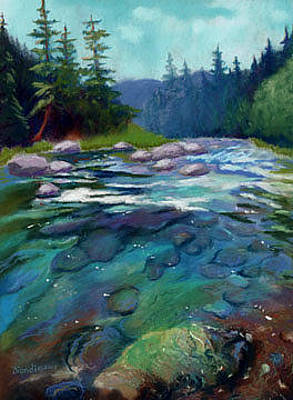 Painting - On The Mccloud by Janet Biondi