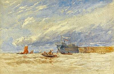 1850s Painting - On The Medway by MotionAge Designs