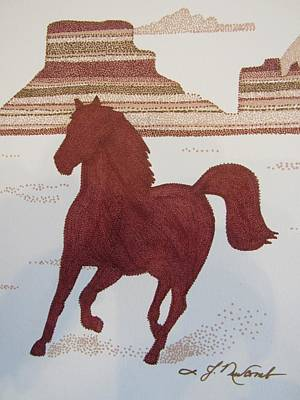 Mesa Drawing - On The Mesa by Judy Cheryl Newcomb