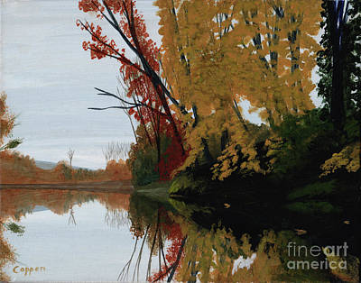 Painting - On The Mohawk In The Fall by Robert Coppen