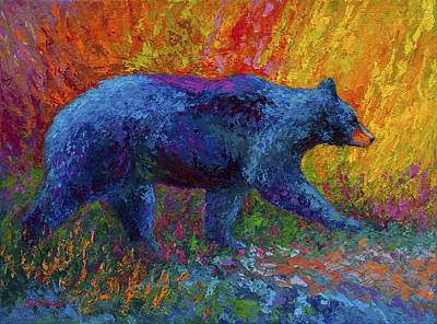 Abstract Wildlife Painting - On The Move by Marion Rose