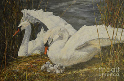 Painting - On The Nest by Beatrice Cloake