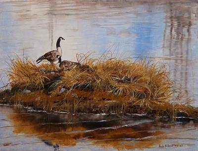 Painting - On The Nest by Judy Bradley