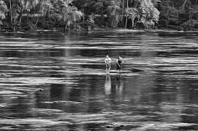 Lazy Digital Art - On The New River, Literally - Paint Bw by Steve Harrington