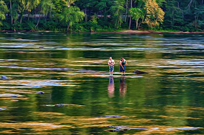 Lazy Digital Art - On The New River, Literally - Paint by Steve Harrington