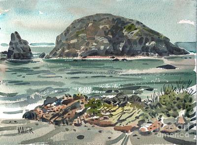Oregon Coast Painting - On The Oregon Coast by Donald Maier