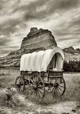 Photograph - On The Oregon Trail # 3 Sepia Tone by Mel Steinhauer