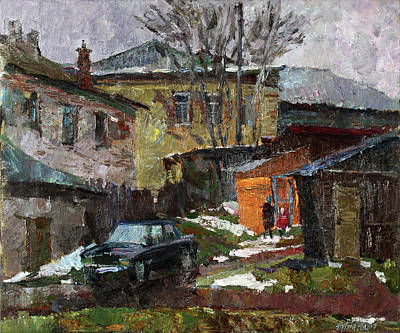 Painting - On The Outskirts Of Borovsk by Juliya Zhukova