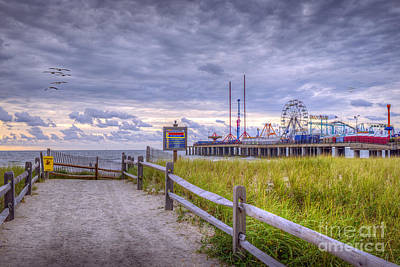 Photograph - On The Path Steel Pier  by David Zanzinger