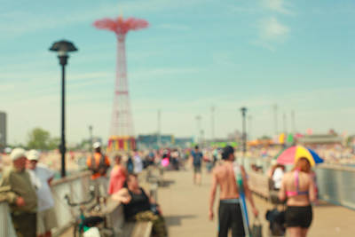 Photograph - On The Pier. Coney Island, Nyc by Keith Thomson