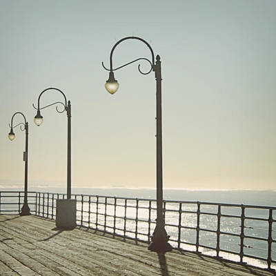 Santa Monica Photograph - On The Pier by Linda Woods