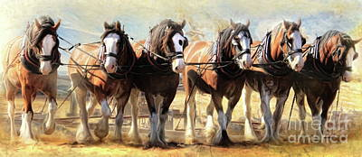 On The Plough Art Print by Trudi Simmonds