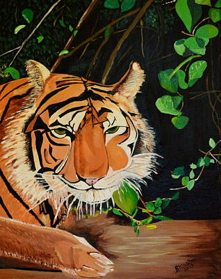 Painting - On The Prowl by Donna Blossom