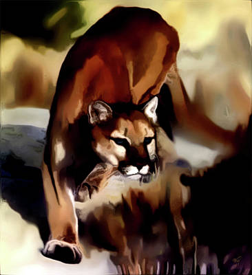 Cougar Digital Art - On The Prowl by Vic Weiford