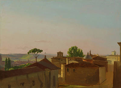 Painting - On The Quirinal Hill, Rome by Simon Denis