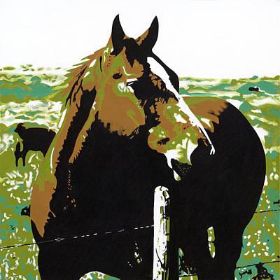 On The Range - Brown Art Print by Sonja Olson