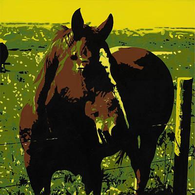 On The Range - Red Art Print by Sonja Olson