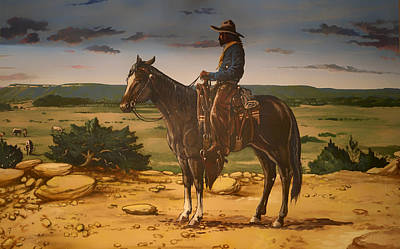 Prairie Sky Art Painting - On The Range by Mountain Dreams