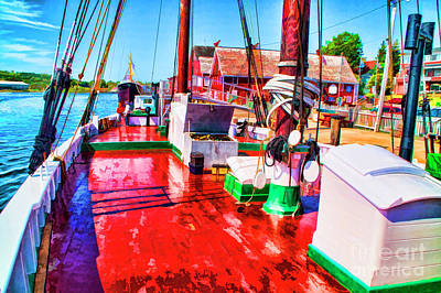 Photograph - On The Red Boat by Rick Bragan