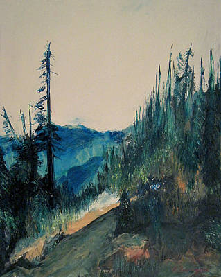 Olympic National Park Painting - On The Ridgeline by Richard Beauregard