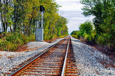 On The Right Track Art Print by Brittany H