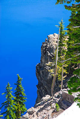 Photograph - On The Rim Of Crater Lake 3 by Storm Smith