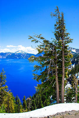 Photograph - On The Rim Of Crater Lake by Storm Smith