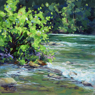 Painting - On The River by Karen Ilari
