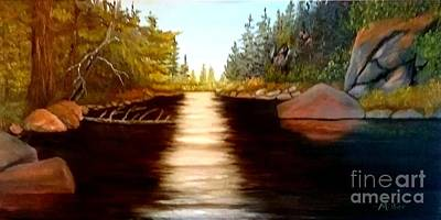 Painting - On The River by Peggy Miller