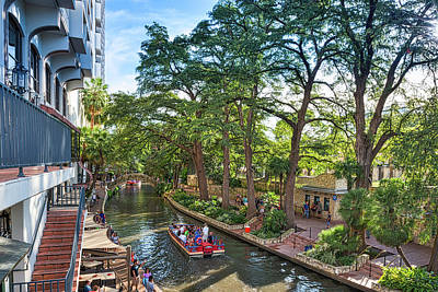 Cities Photograph - On The Riverwalk by Tod and Cynthia Grubbs