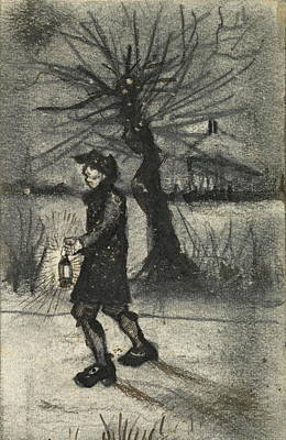 Garland Park Painting - On The Road, 1881 by Vincent Van Gogh