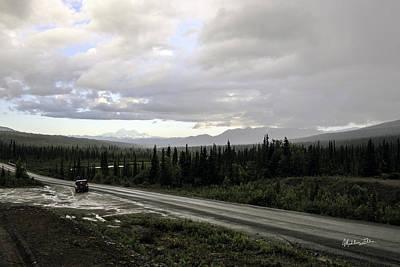 Rainy Day Photograph - On The Road Again -  Alaska by Madeline Ellis
