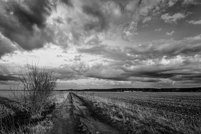 Photograph - On The Road Again Bw by Michael Damiani