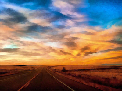 Digital Art - On The Road Again by Ernie Echols