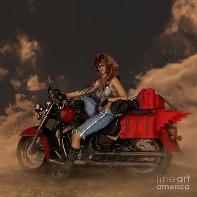 Print featuring the digital art On The Road Again by Shanina Conway