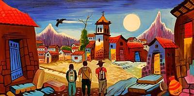 Gustavo Oliveira Painting - On The Road by Gustavo Oliveira