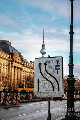 Photograph - On The Road In Berlin by Ana Mireles