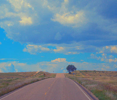 On The Road Oklahoma Revisited Art Print