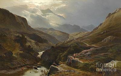 Percy Painting - On The Road To Loch Turret, Crieff by Celestial Images