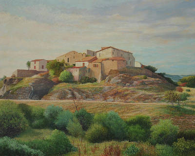 Painting - On The Road To Manosque I by E Colin Williams ARCA