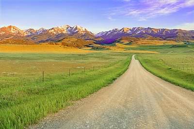 Photograph - On The Road To The Crazy Mountains by Jack Bell