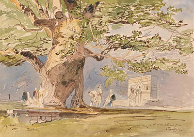 Drawing - On The Road, Two Hours From Tepelene, 19 April 1857 by Edward Lear