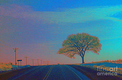 On The Road Wisconsin  Revisited Art Print