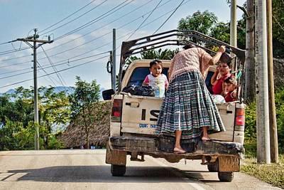 On The Roads Of Guatemala Art Print by Tatiana Travelways