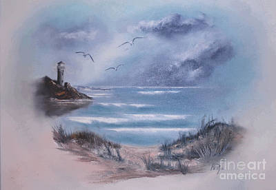 Painting - On The Rocks by Al Payne