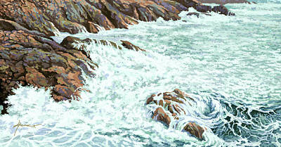 Painting - On The Rocks by Hans Neuhart