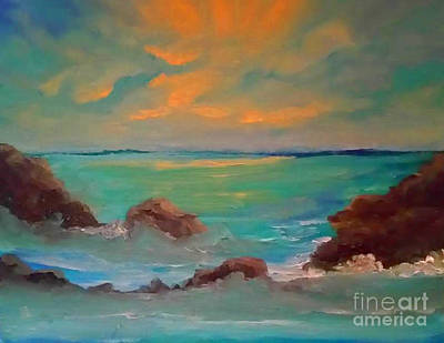 Painting - On The Rocks by Holly Martinson